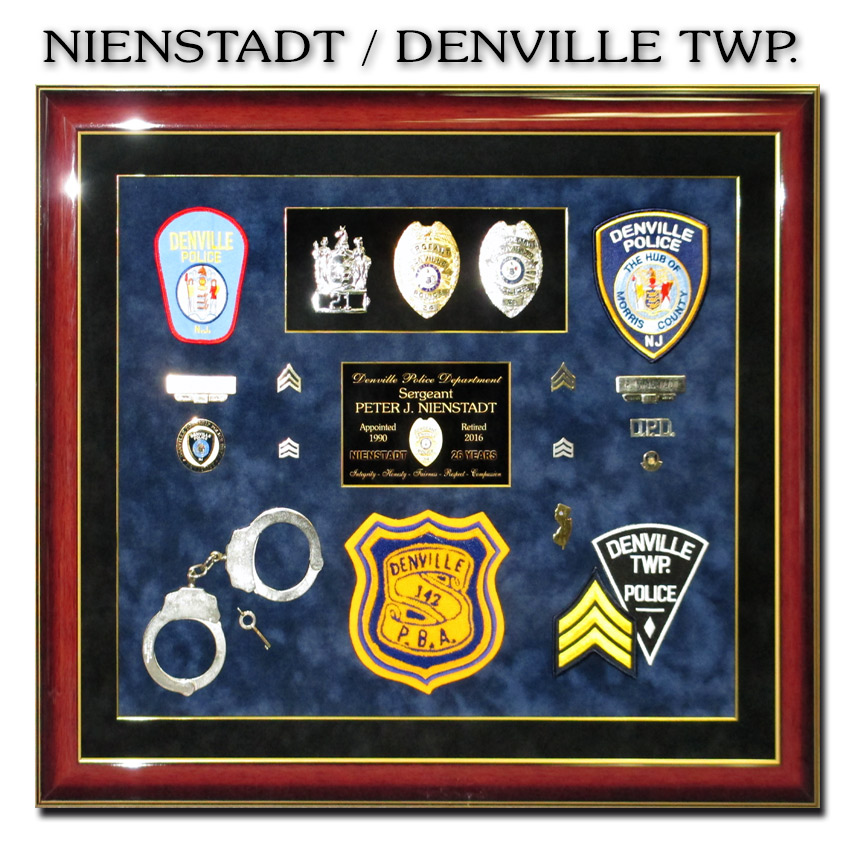 Nienstadt / Denville Twp. PD Police Retirement               presentation from Badge Frame