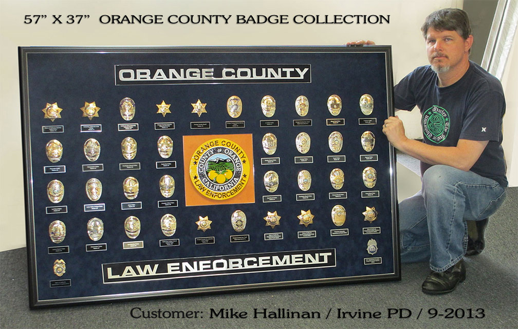 Orange County Law Enforcement Badgte           Collection - Mike Hallinan / Irvine PD