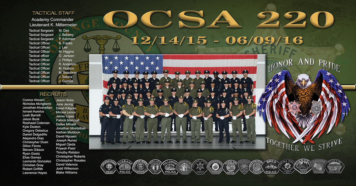 sheriff, osca, academy, badge frame