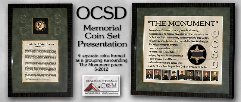 OCSD Memorial Coin Set Presentation
