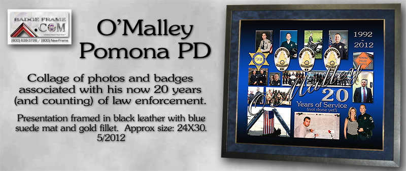 Patrick O'Malley - Pomona PD - 20 years Collage