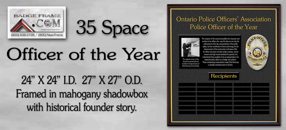 Ontario PD - Officer               of