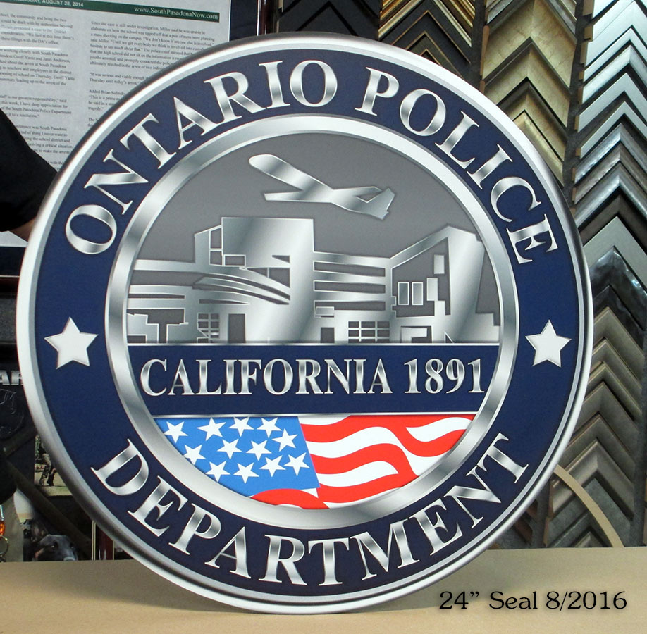 Ontario PD Seal - Report Writing Room from Badge Frame           8/2016