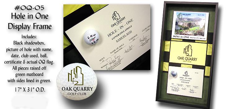 Golf related custom framing