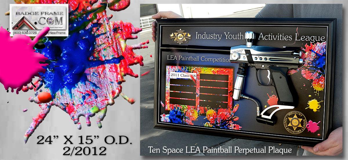 LEA Paintball Plaque
