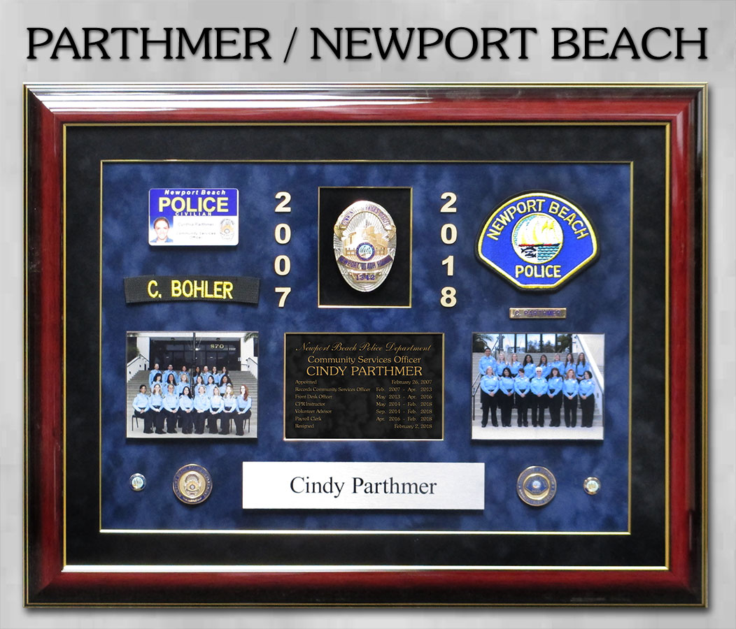 Parthmer / Newport Beach PD Retirement from Badge Frame