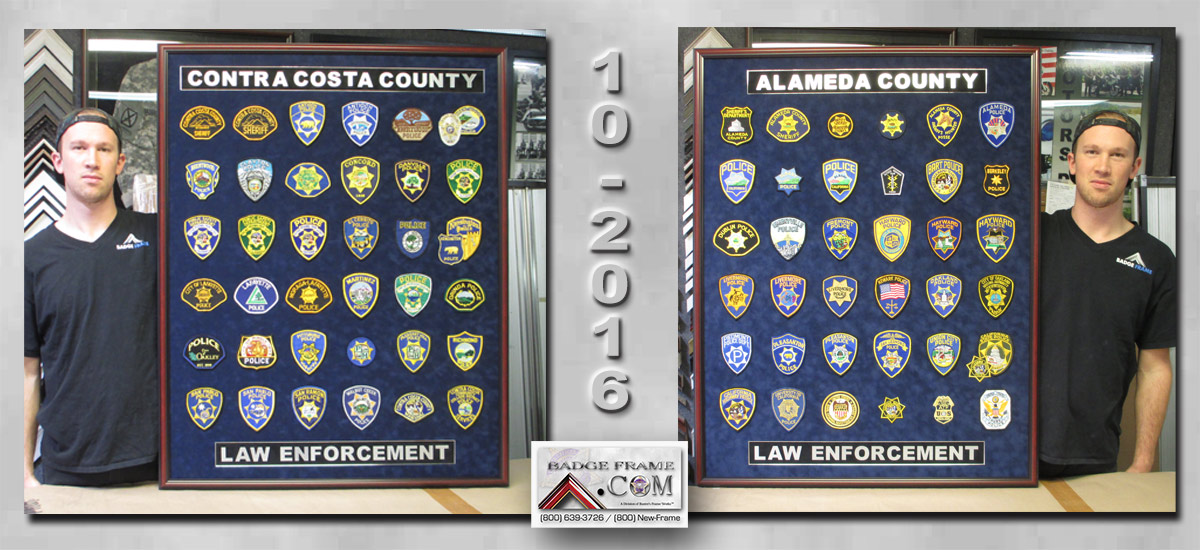 Contra               Costa & Alameda County - Law Enofcement Patch               collection from Badge Frame 10/2016