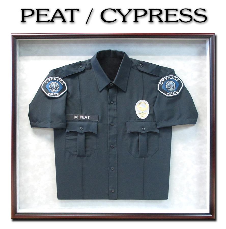 Police Uniform Framed           by Badge Frame for Peat from Cypress PD