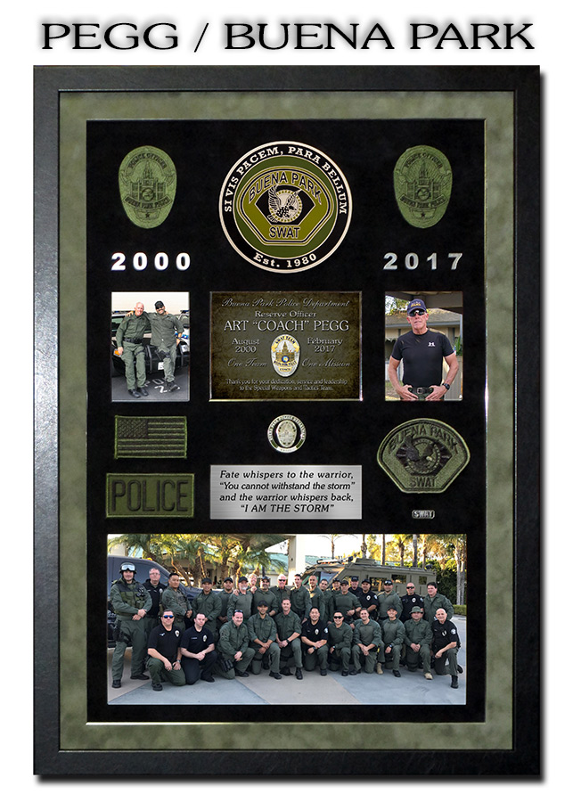 Pegg - Beuna Park SWAT           presentation from Badge Frame