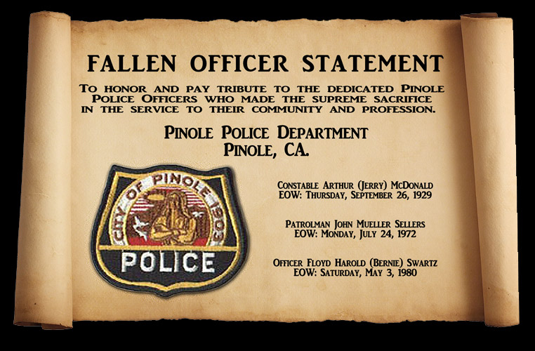 Pinole PD - Memorial                 Scroll