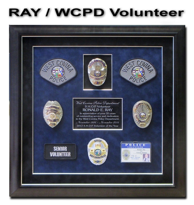 recognition plaques,                     badge frame, police