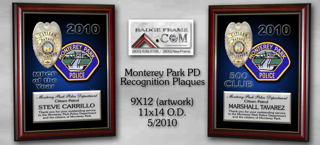 Monterey Park PD -               Recognition