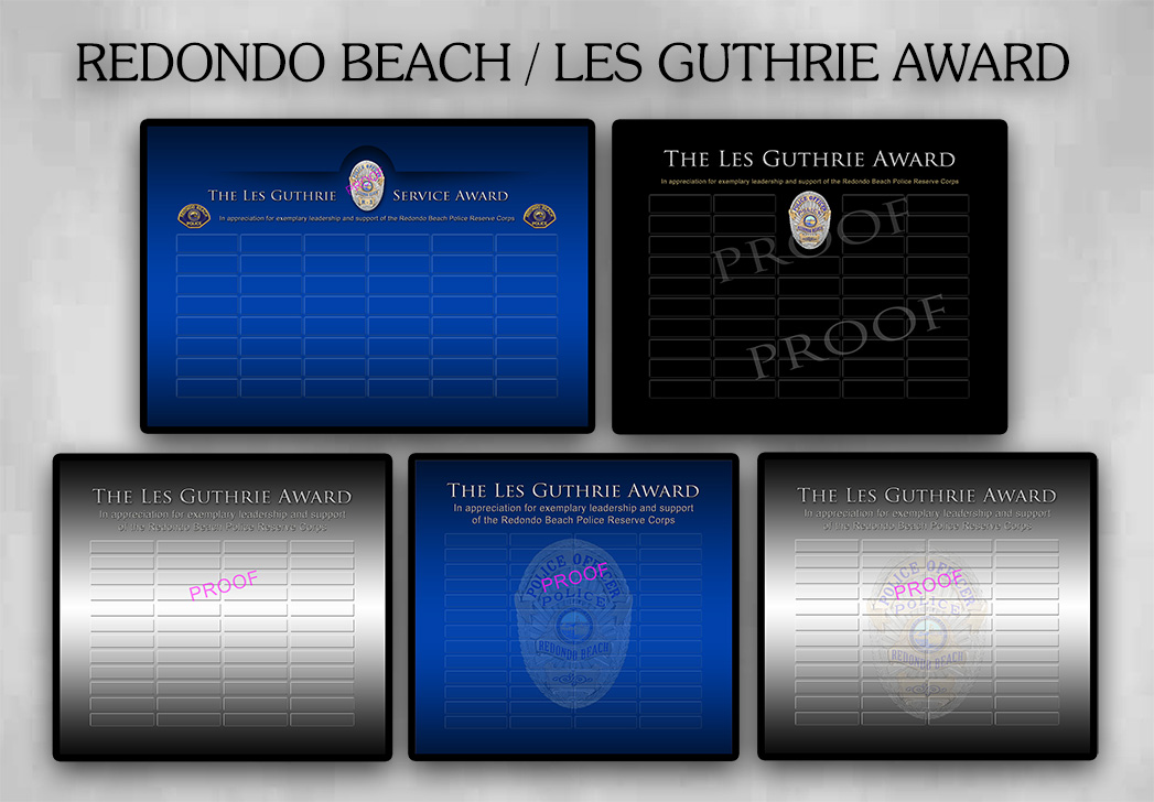 Redondo Beach PD - Les Guthrie Award from Badge Frame