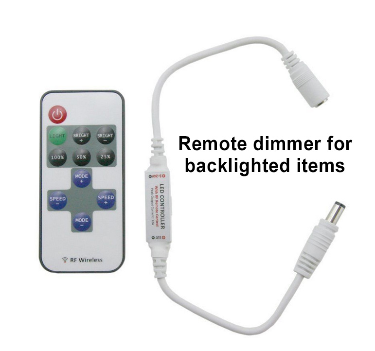 Badge Frame - Remote Backlighting Dimmer