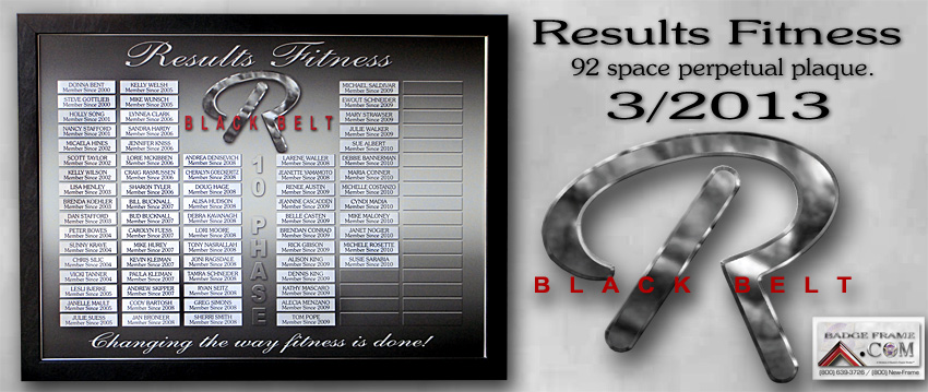 Results Fitness - Perpetual Plaque