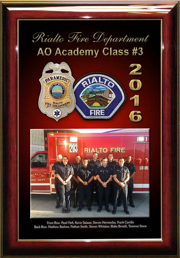 Rialto FD Academy presentation from Badge Frame