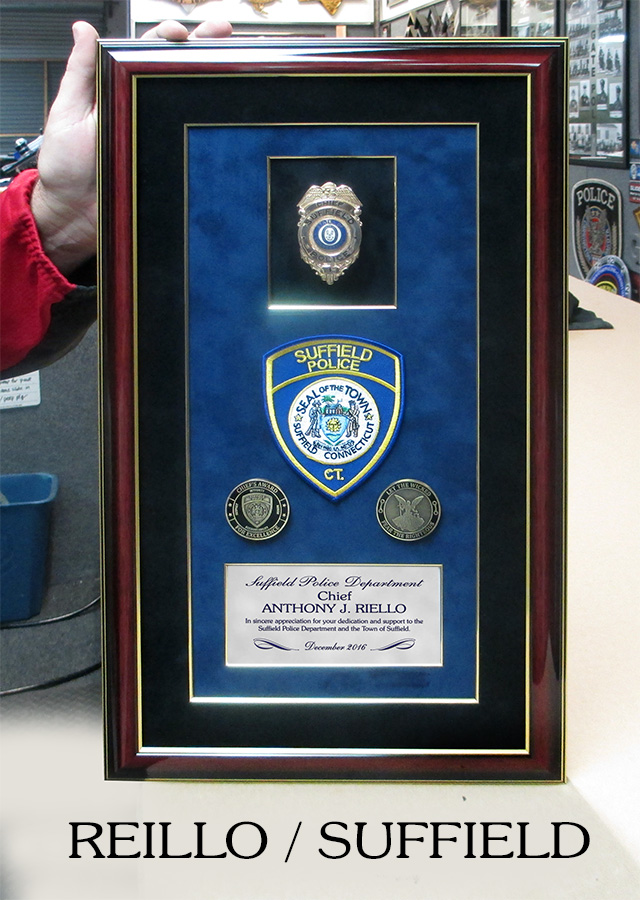 Riello / Suffield PD presentation from Badge Frame