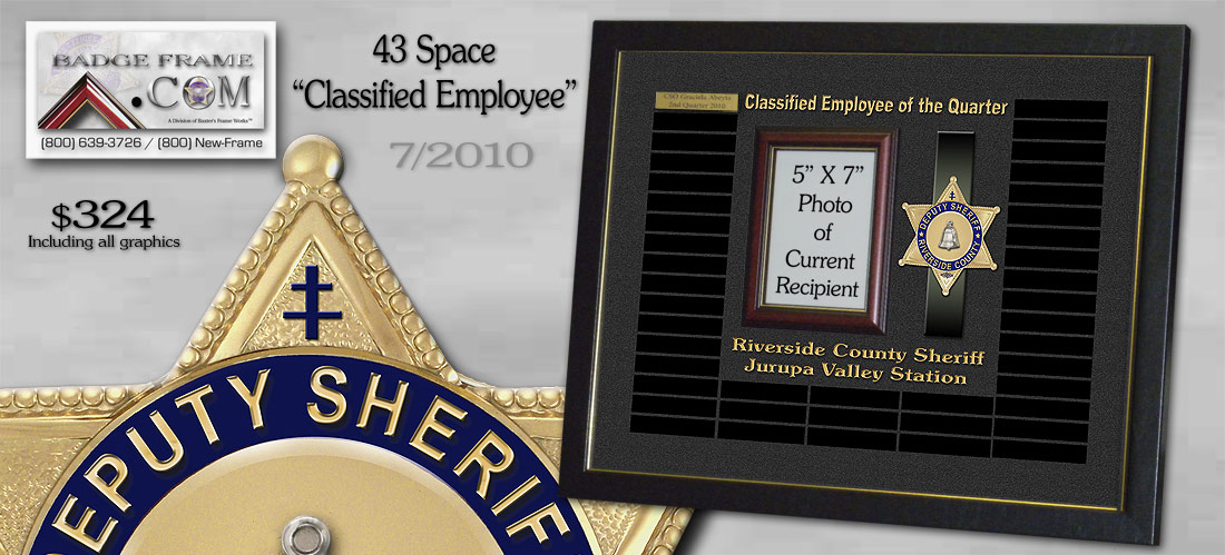 Riverside County               Sheriff - Perpetual Plaque