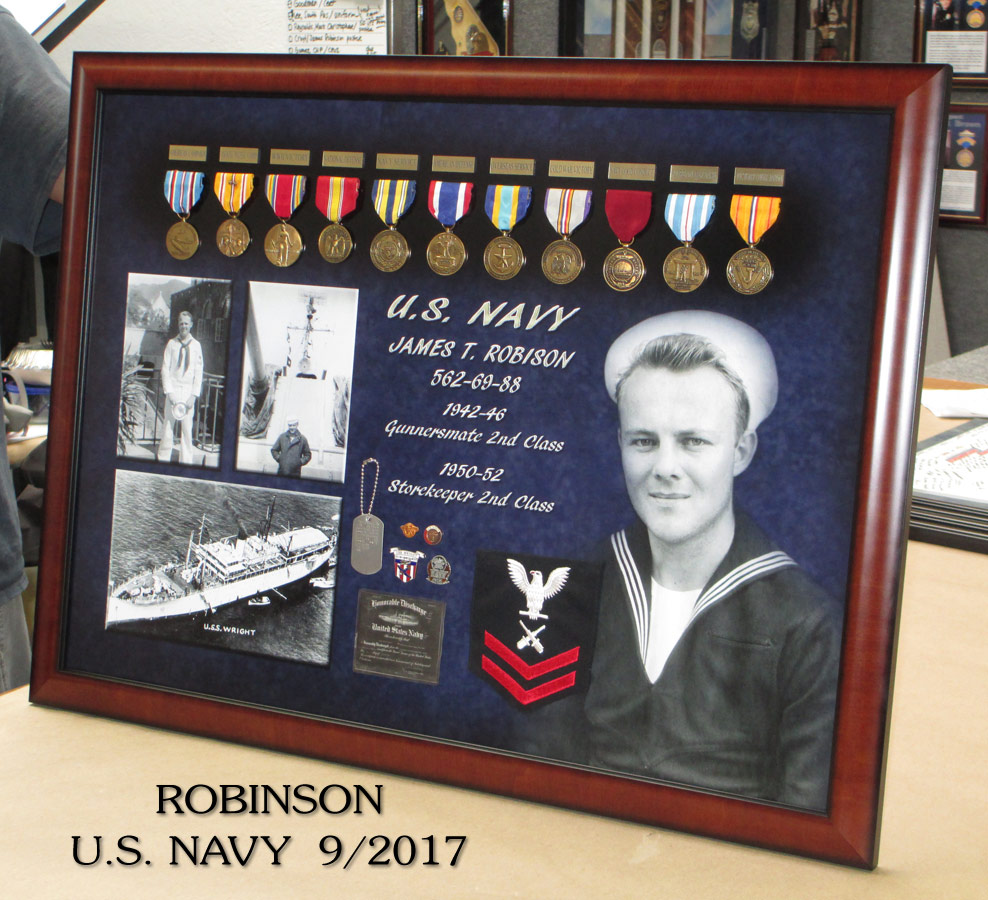 USN - Robinson Career Presentation from Badge Frame