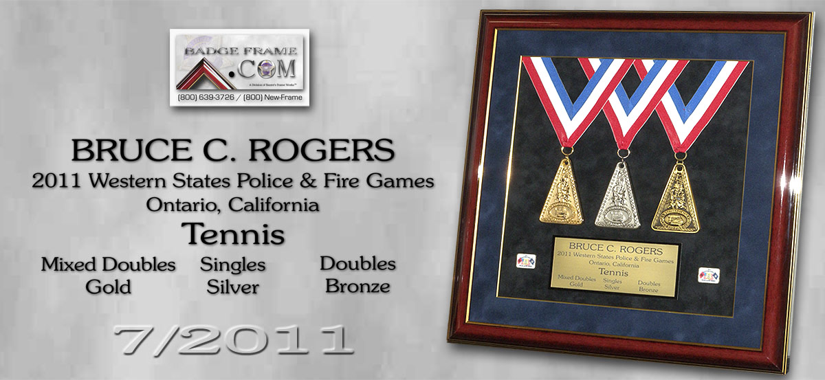 Rogers - Tennis - Gold,                                       Silver, Bronze Medals