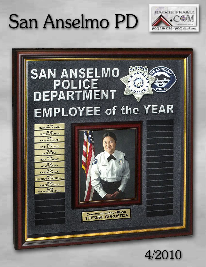 Officer Employee Of The Year Perpetual Plaques From