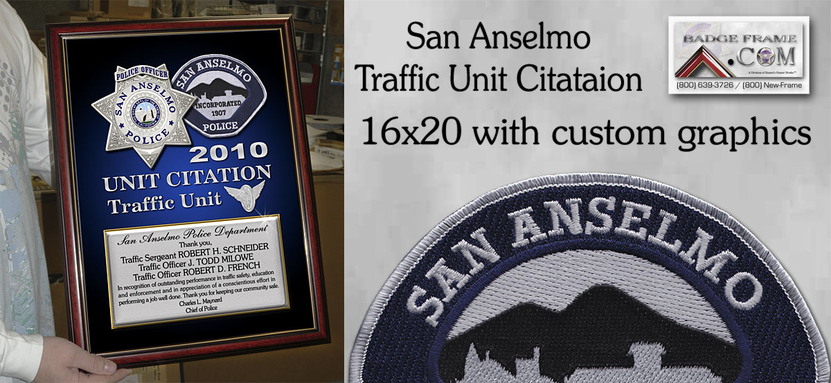 San Anselmo Traffic Unit Citation