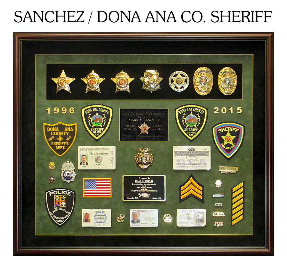 Sanchez - Dona Ana Co. Sheriff - Retirement presentation from Badge Frame