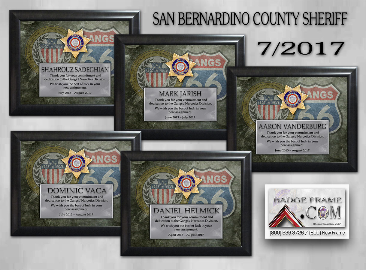 SBSO Gangs           Unit Recognition from Badge Frame