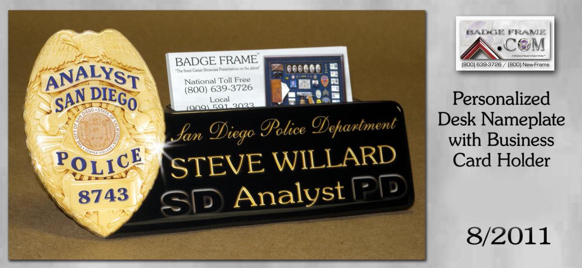 Police Desk Business Card Holder Best Cards