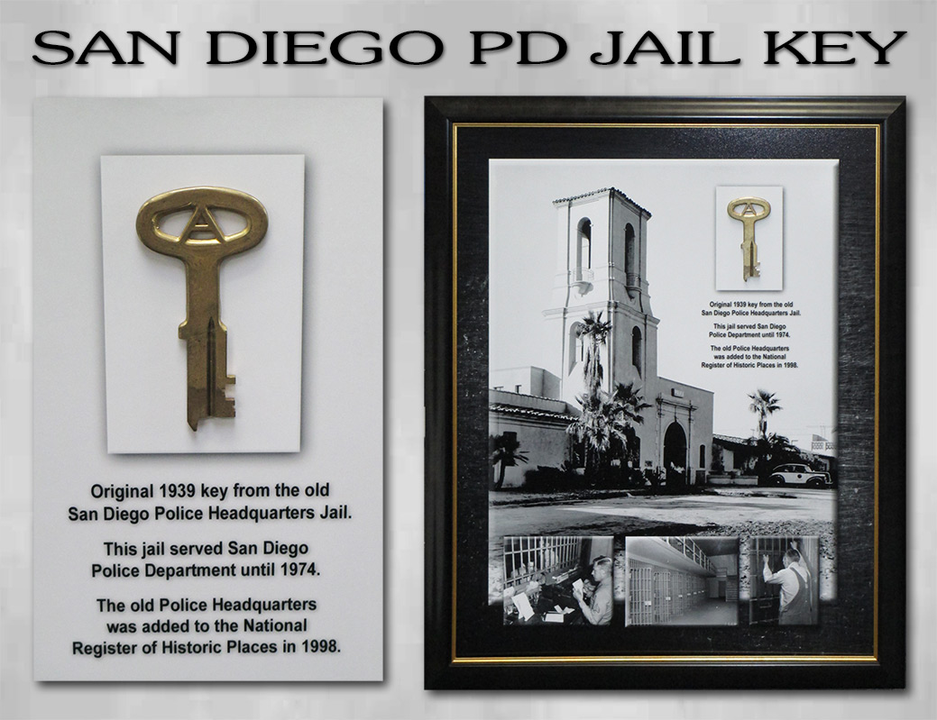 San Diego PD - Original Jail Key