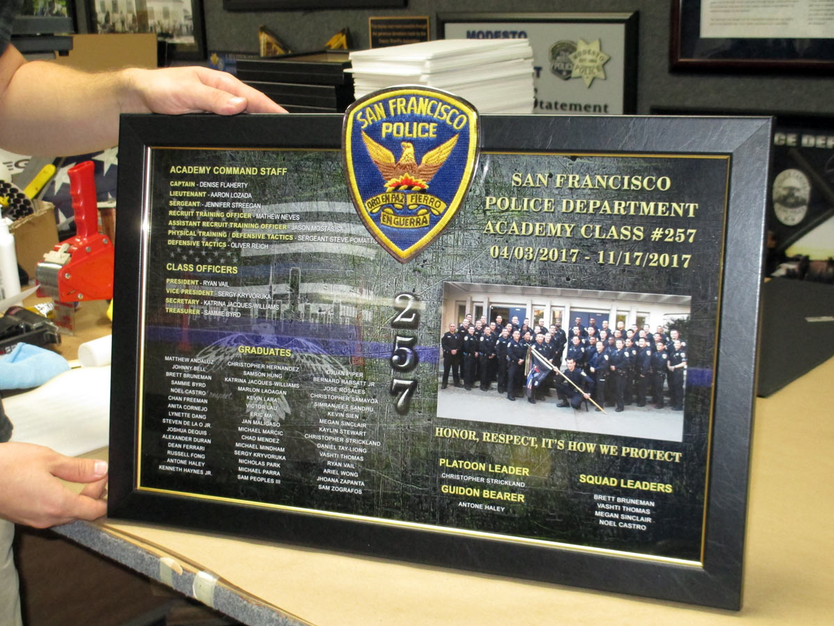 San Francisco Police Academy from Badge Frame