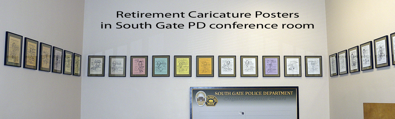 South Gate PD - Caricatures