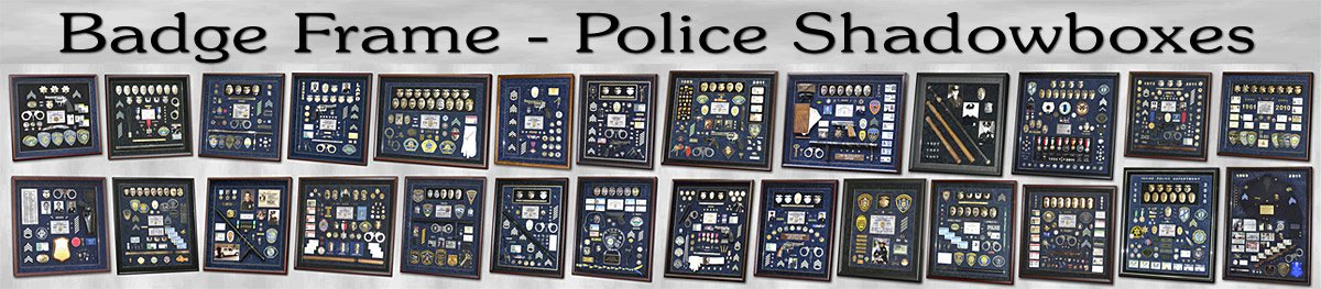 Police Shadowboxes by Badge Frame
