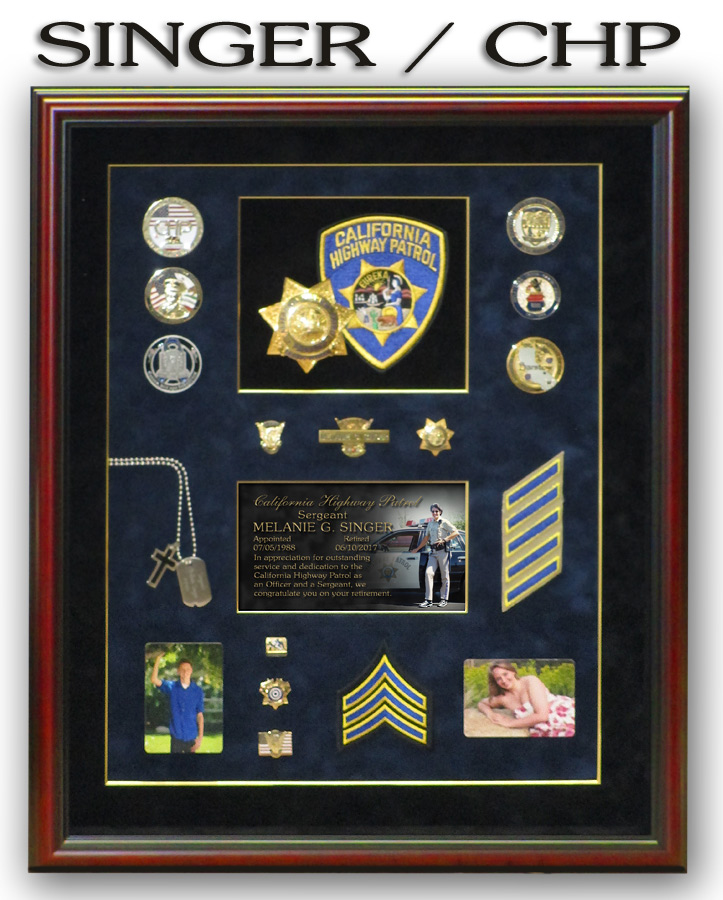 Singer - CHP retirement from Badge           Frame
