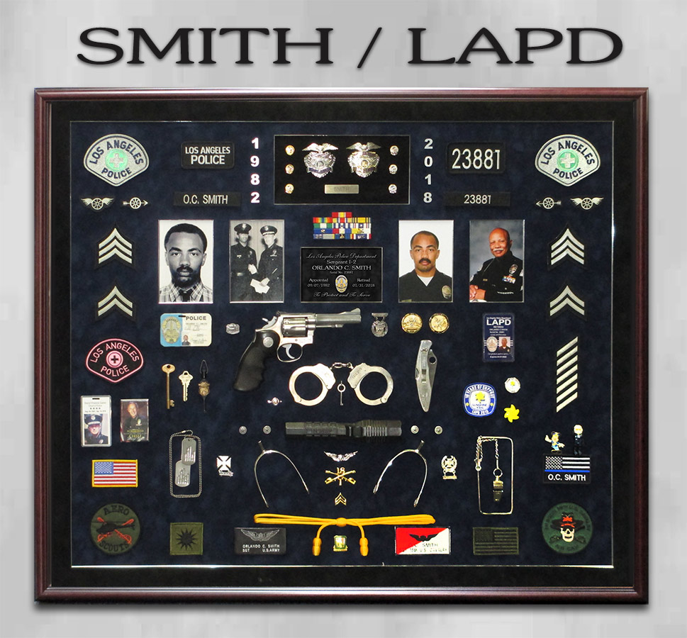 Smith / LAPD Retirement Shadowbox from Badge Frame