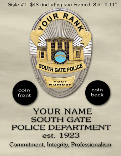 South Gate Coin option 1