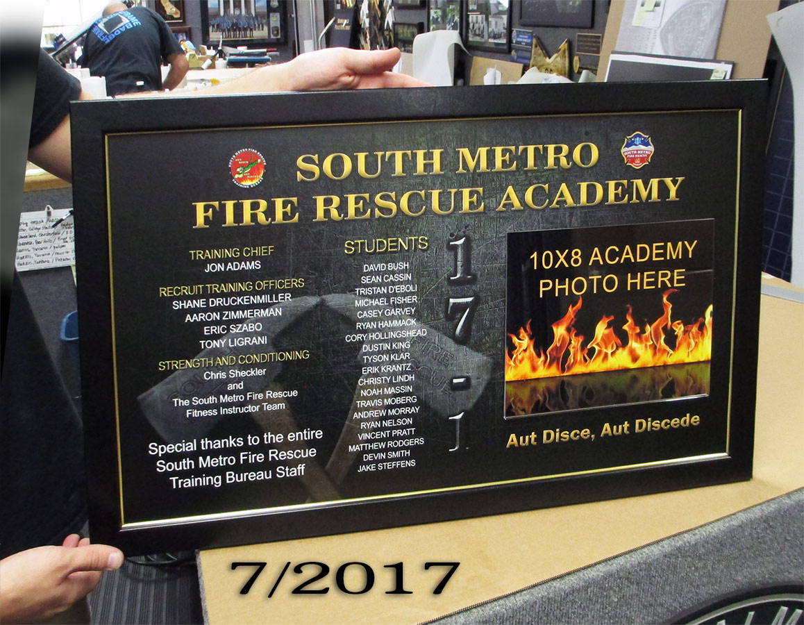 South Metro Fire Academy presentation from Badge Frame