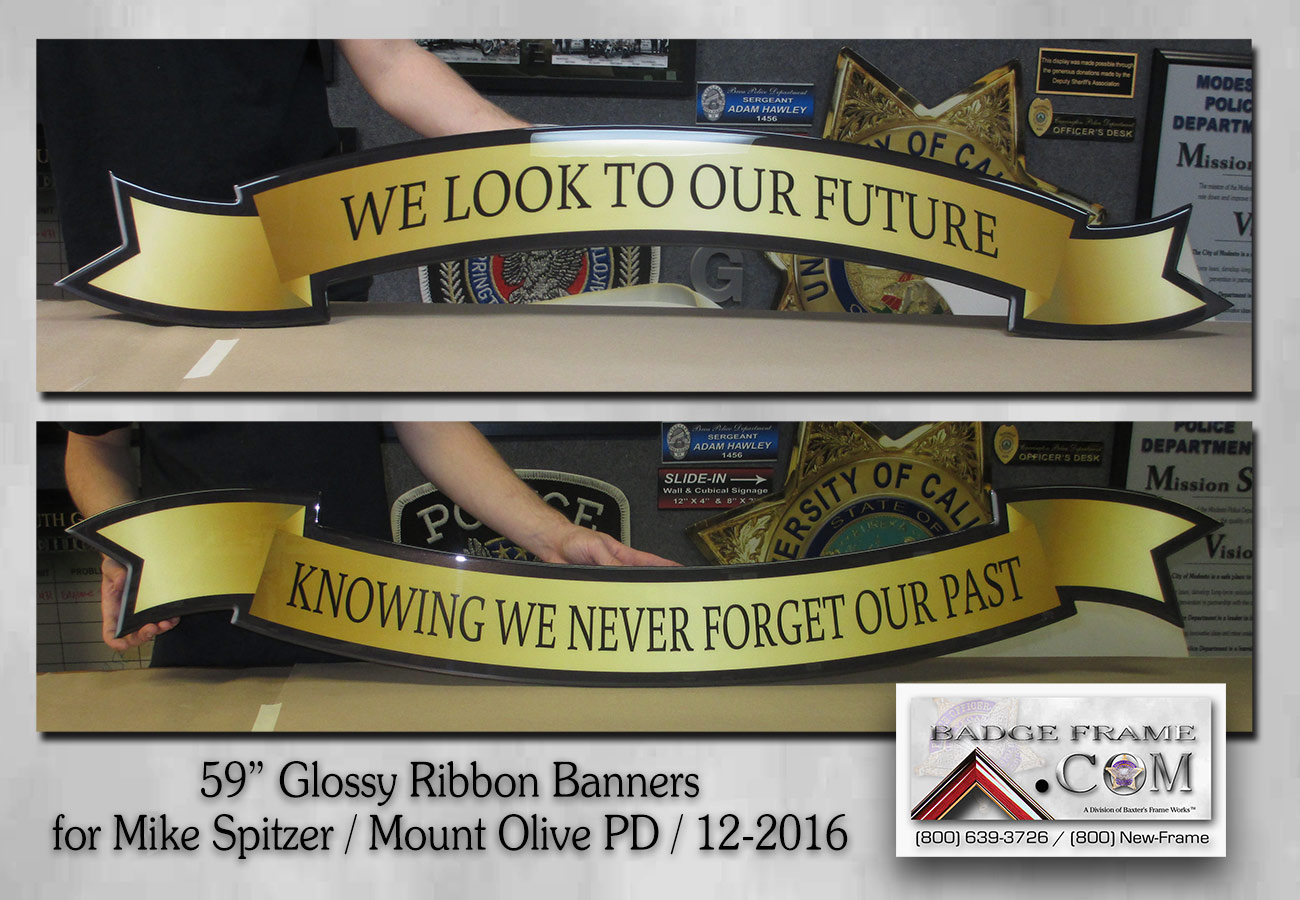 Mount Olive PD -           Glossy banners from Badge Frame