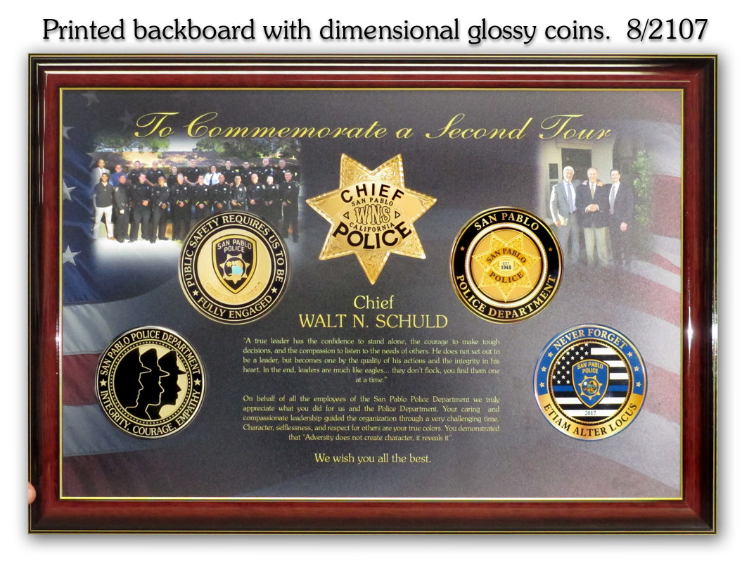 San Pablo           PD - Chief Schuld Presentation from Badge Frame