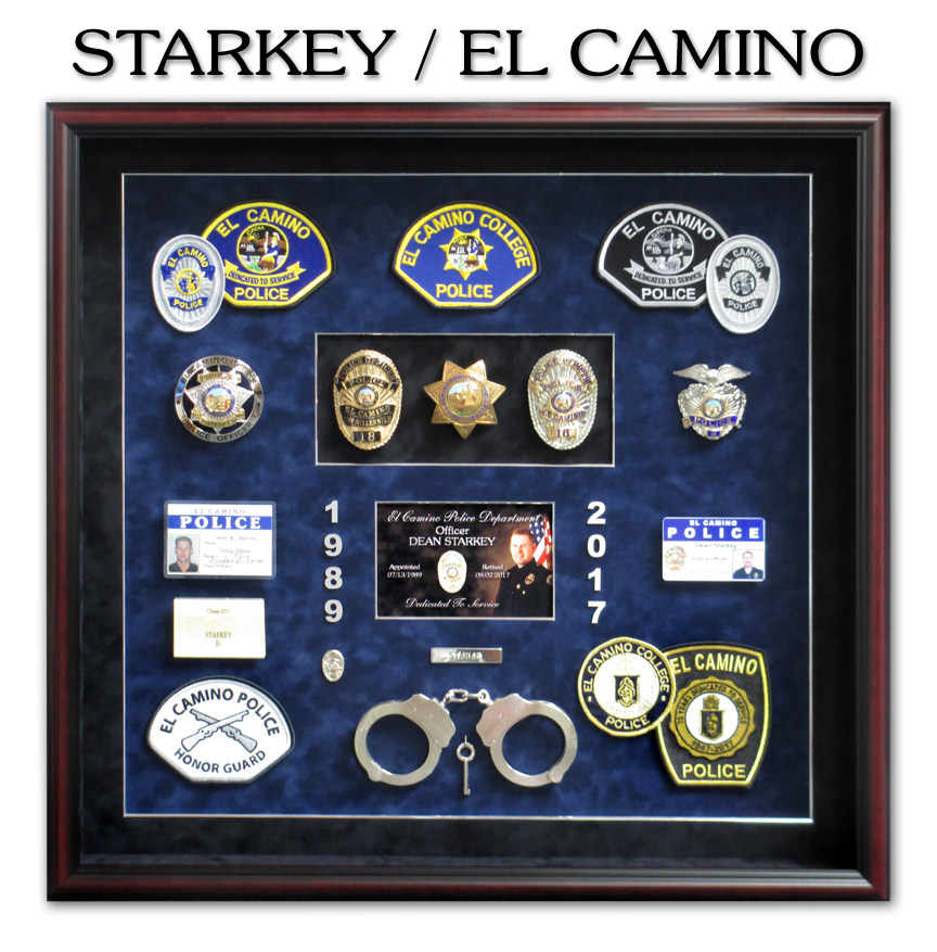 Starkey -             El Camino PD - Police Retirement Shadowbox