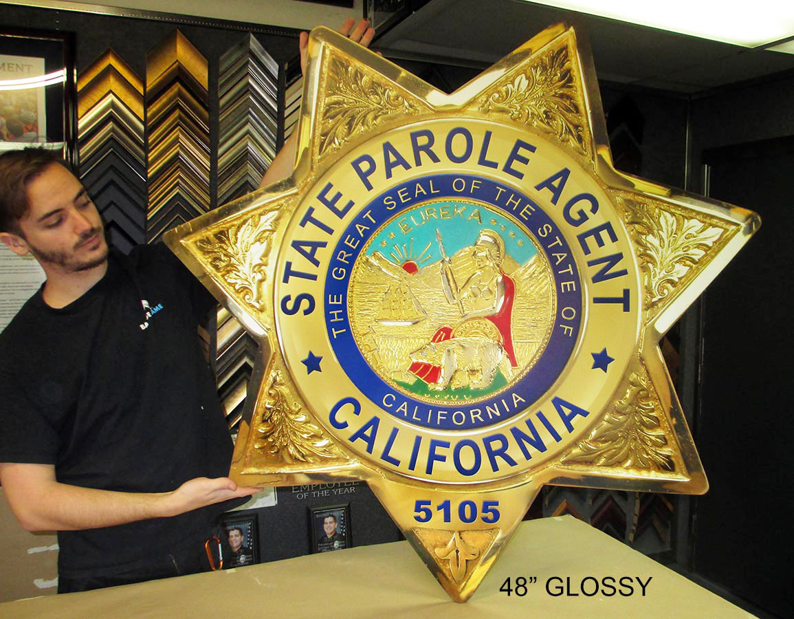 Badge Frame - Shadowboxes and wall presentations for Police