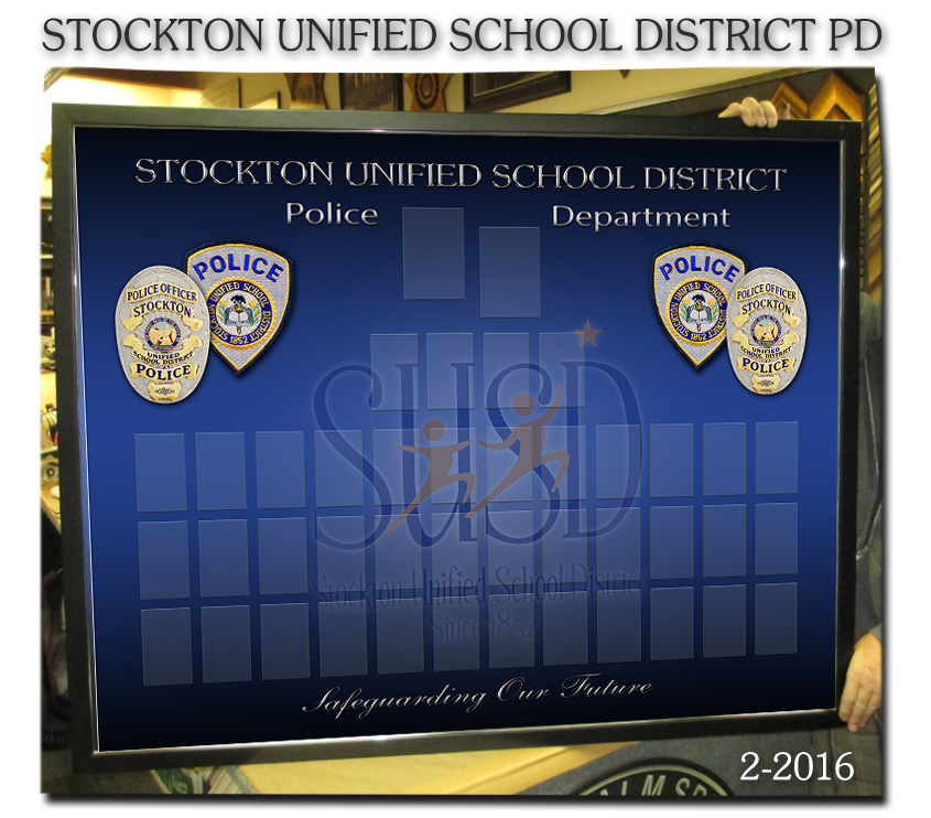Stockton Unified School District -               Organizational Chart from Badge Frame