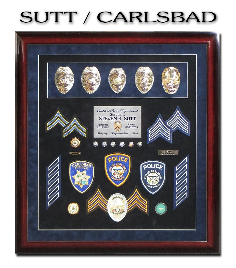 Sutt - Carlsbad PD Police Retirement           Presentation from Badge Frame
