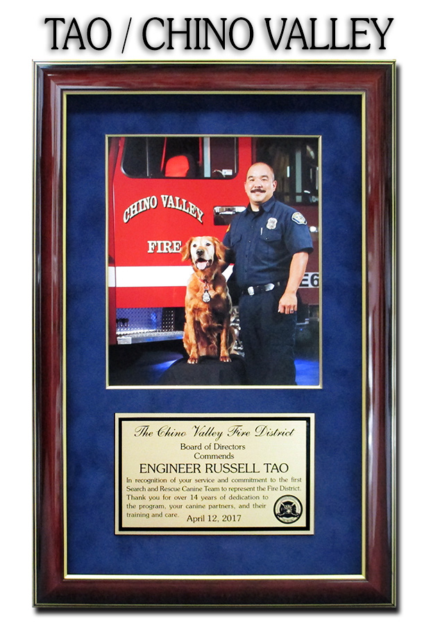 Chino Valley Fire           - Tao Presentation from Badge Frame