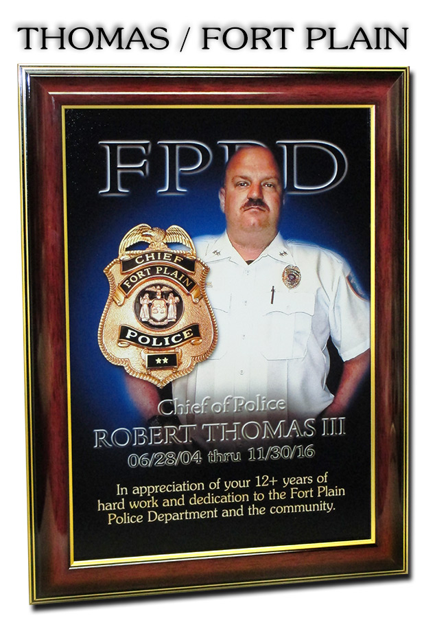 Thomas - Fort Plain PD Recognition Presentation from Badge Frame