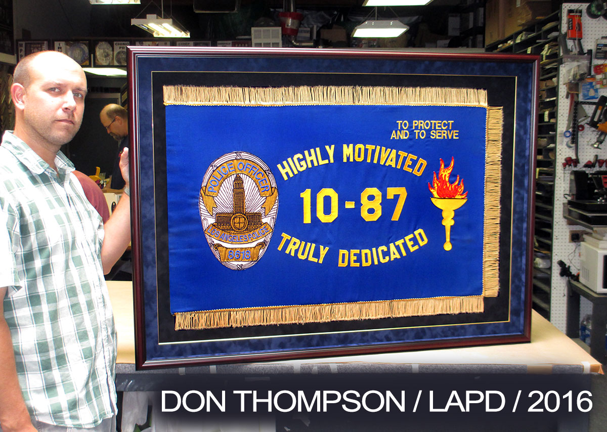 Don Thompson           LAPD Flag 2016 from Badge Frame