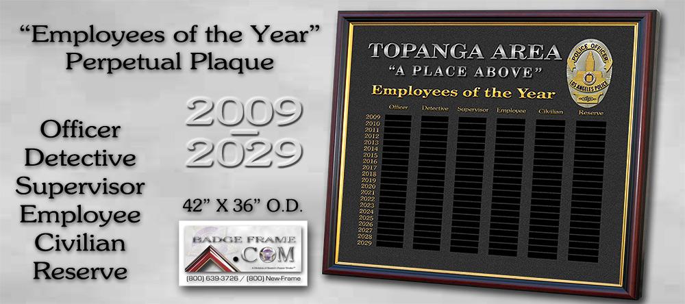 Topanga - LAPD               Perpetual Plaque