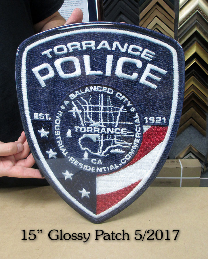Police Glossy Patch for Torrance           PD from Badge Frame