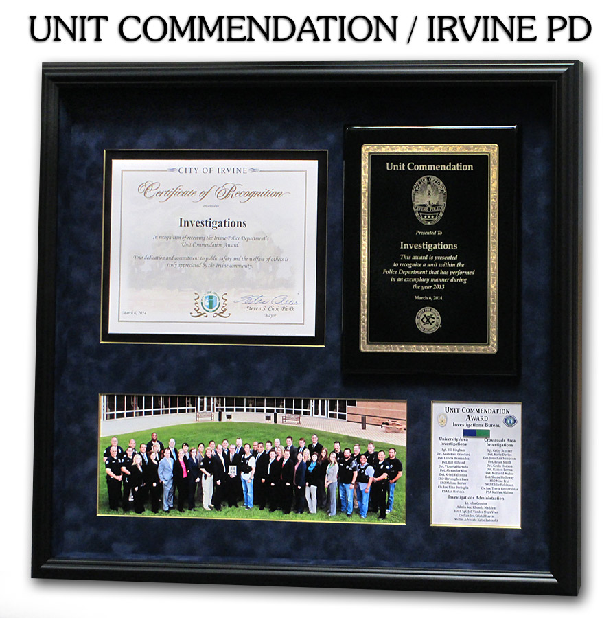 Irvine PD - Unit Commendation