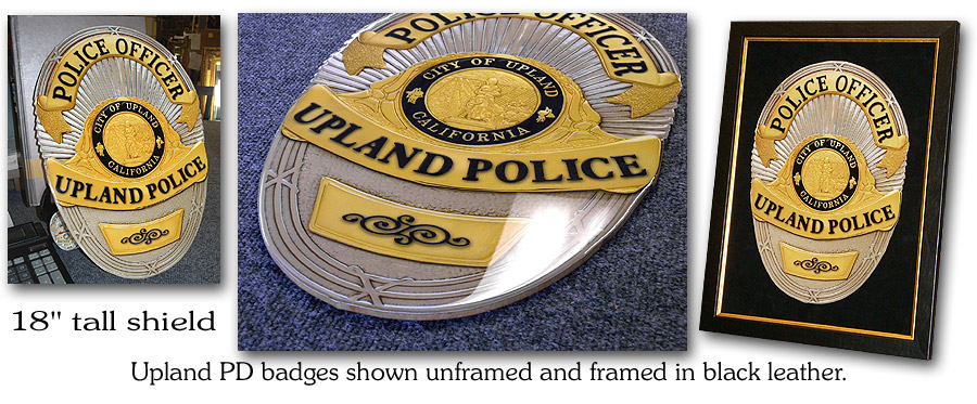 Upland PD - Badge Reproductions